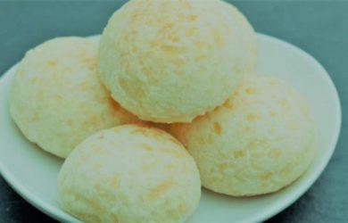receita pao de queijo low carb facil